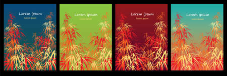 Colorful set of bamboo backgrounds