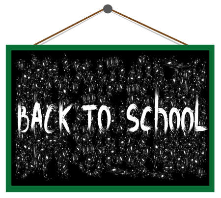 Vector text back to school on the blackboard Stock Vector - 15286846