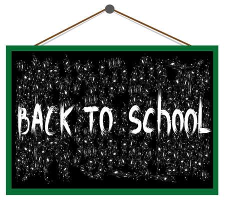 Vector text back to school on the blackboard Stock Vector - 15286846