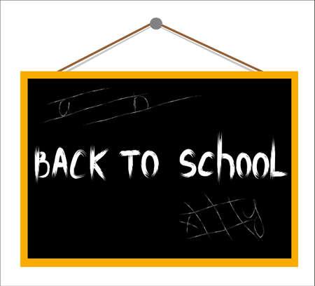 Vector Back to school on the blackboard Stock Vector - 15286832