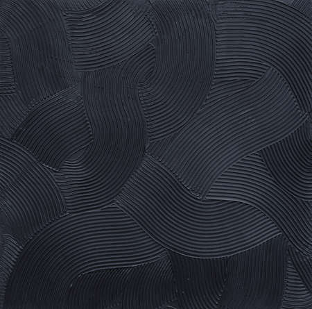 Texture waves, minimalistic black relief. Background for banner. Pure black