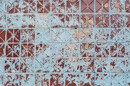 The texture of the old tile. Background for the banner. Old wall