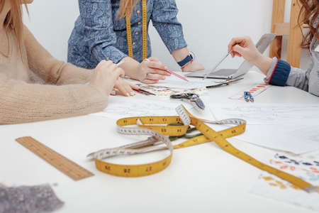 tools of professional designers and process of tailoring