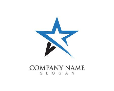 Star Logo Template Illusztráció