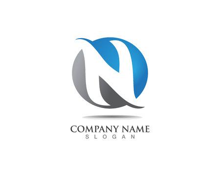 Logo ikony wektorowe litery N Logo