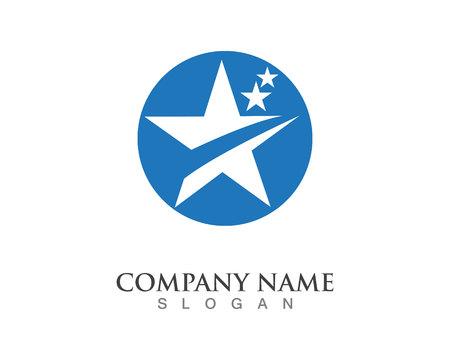 Star Logo Template Ilustração