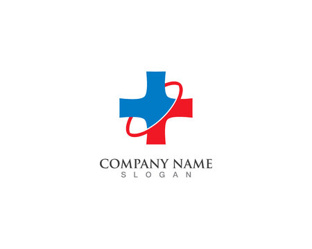 Hospital logo and symbols template icons vector health Illustration