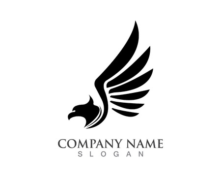 Bird wings logo and Vector sign abstract bird in flight Illustration