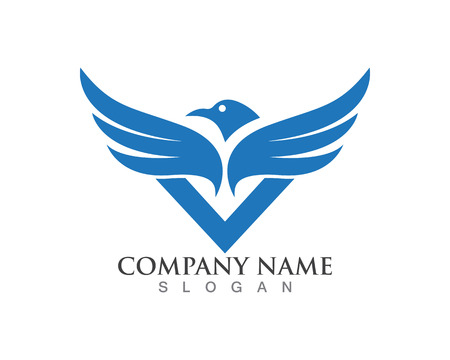 Black wings bird logo and symbol for a professional designer