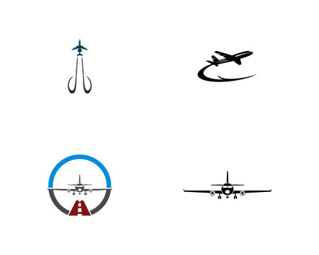 Aircraft simple logo illustration