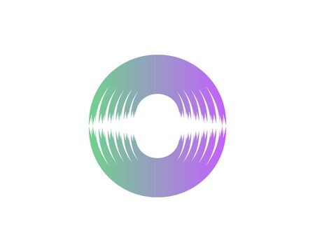 Abstract Audio Sound wave logo creative template vector