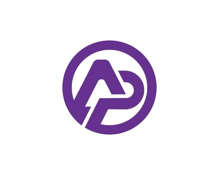 Initial AP, PA logotype creative template vector icon