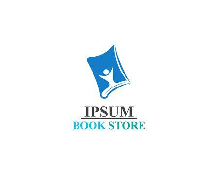 Book Store logo illustration template vector