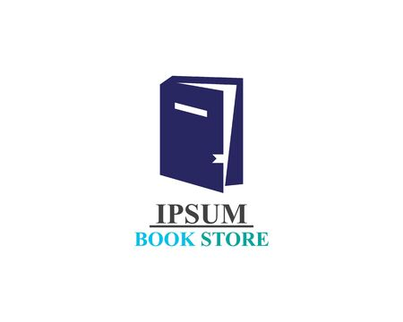 Book Store logo illustration template vector