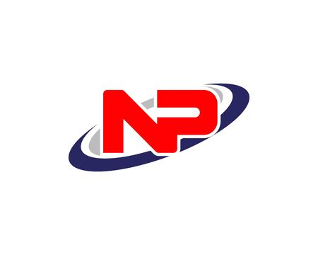 Letter PN, NP initial logo template creative design Illustration