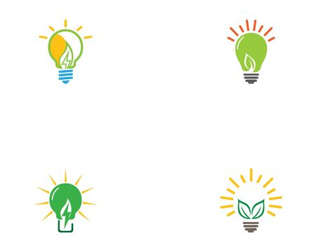 Eco green bulb electrical template design vector