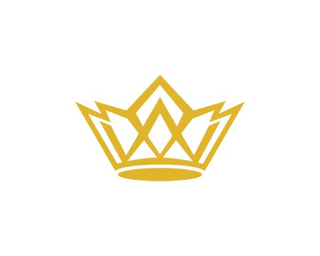 Crown logo template vector icon illustration design Ilustrace