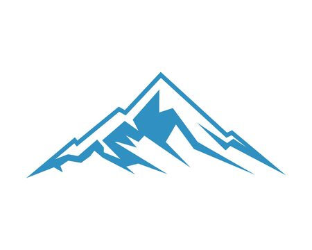 Mountain icon logo business template vector