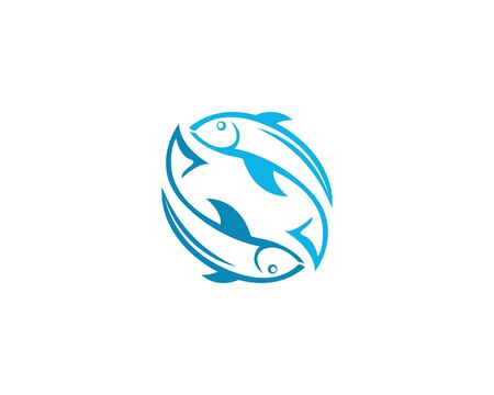 Fish logo illustration template icon design