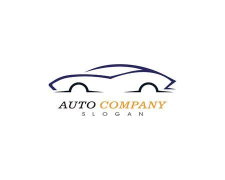 Icono de vector de plantilla de logotipo de coche automático Logos