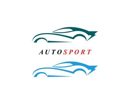 Disegno dell'icona del modello di logo dell'automobile di velocità auto