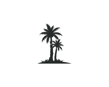 Palm tree summer logo template vector illustration nature