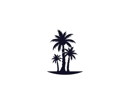 Palm tree summer logo template vector illustration nature Illusztráció