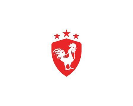 Hühnchen-Logo-Bild-Design-Vektor-Illustration Logo