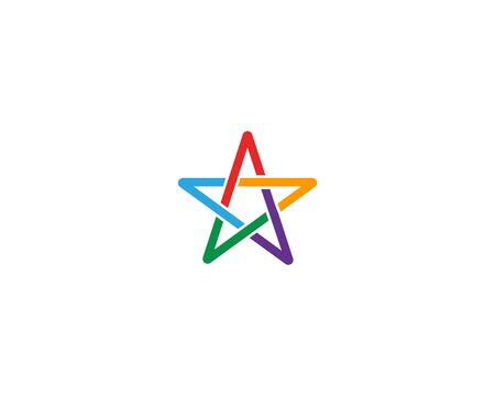 Star Logo Template vector icon illustration design Illustration