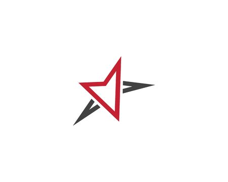 Red and blue Star business Logo Template vector icon Illustration