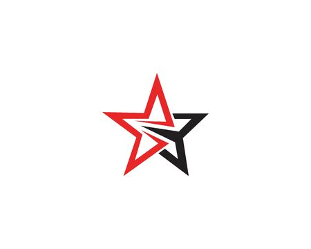 Red and blue Star business Logo Template vector icon  イラスト・ベクター素材