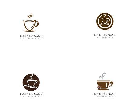 Coffee cup logo template vector icon design Vectores