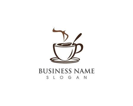 Coffee Cup drink  logo and vector icon design illustration