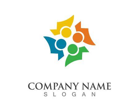Community people logo vector symbol