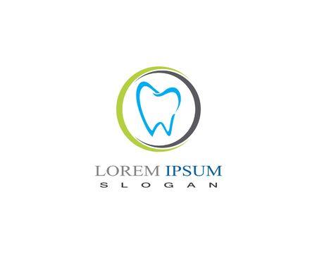Dental care logo vector design element clinic
