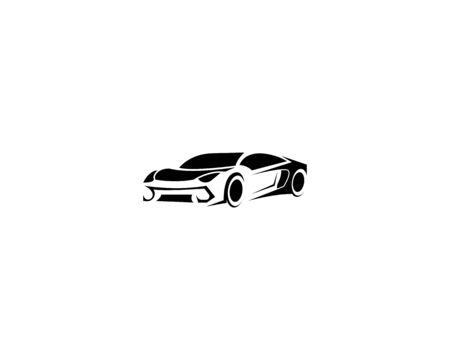 Automotive car logo design with abstract sports vehicle silhouette  Vettoriali