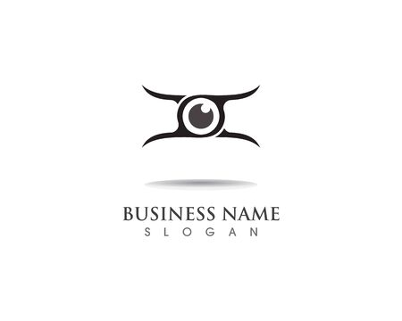 eye care logo and vector illustration