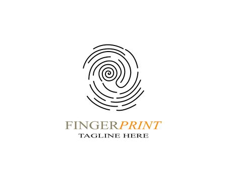 Fingerprint logo template vector icon