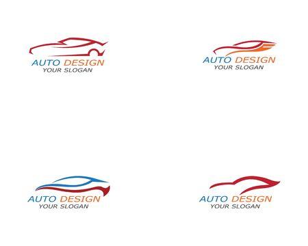 Simple sport car Logo Template vector icon