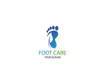 Foot care icon illustration Logo vector Template Logo