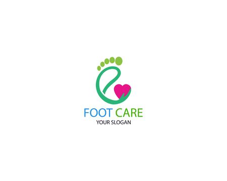 Foot care icon illustration Logo vector Template