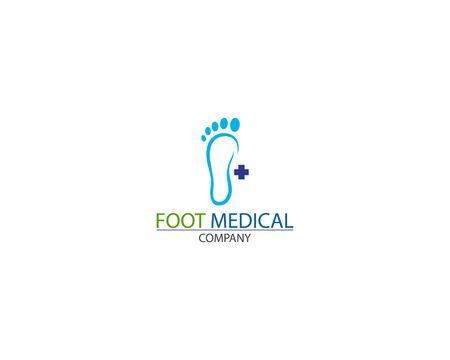 Foot Health medical Logo Template Design Vector creative Stock Vector - 128502959
