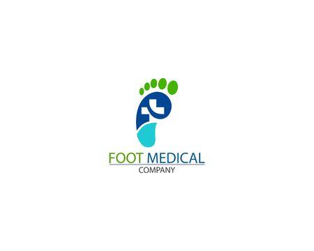 Foot Health medical Logo Template Design Vector creative Illustration