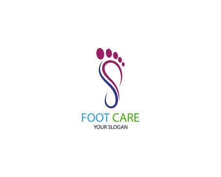 Foot Massage Logo Template Design Vector, Emblem, Design Concept, Creative Symbol, Icon Illustration