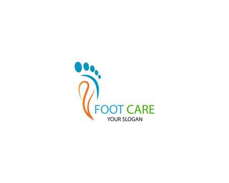 Foot Massage Logo Template Design Vector, Emblem, Design Concept, Creative Symbol, Icon Illustration