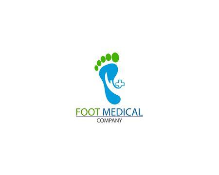 Foot Health medical Logo Template Design Vector creative icon