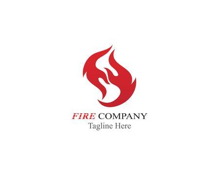 Fire Flame logo illustration vector design