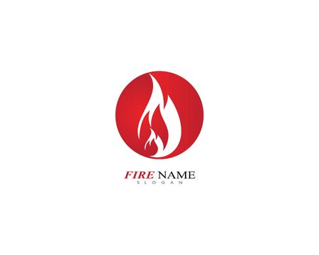 Fire flame logo template icon