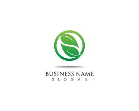 Green leaf logo design nature ecology Logo