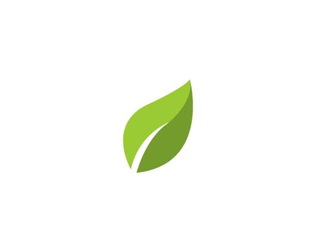 Vector leaves green nature logo template symbol 矢量图像
